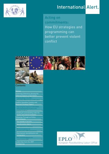 How EU strategies and programming can better prevent violent conflict