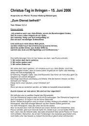 Christus-Tag in Ihringen – 15. Juni 2006 - Lebendige Gemeinde