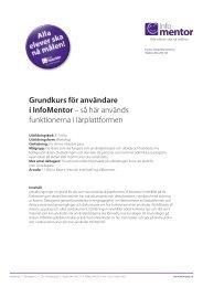 Grundkurs för användare i InfoMentor – så här används funktionerna ...