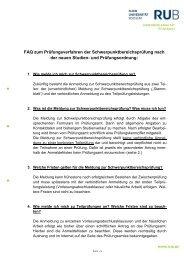 Allgemeine Informationen zum Prüfungsverfahren und ...