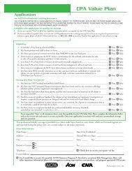 CPA Value Plan Application - Beale Professional Services
