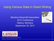 Using Census Data in Grant Writing - Montana Nonprofit Association