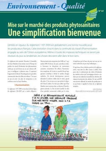 Mise sur le marché des produits phytosanitaires - Cerafel