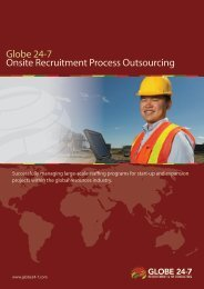 Read more about our RPO services - Globe 24-7
