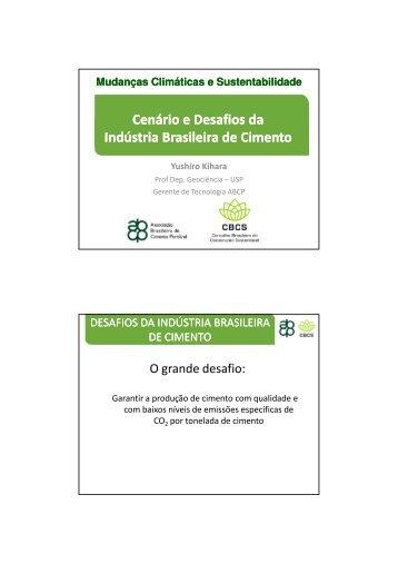 Cenário e Desafios da Indústria Brasileira de Cimento Prof ... - CBCS