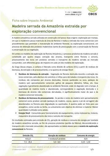 Madeira serrada da Amazônia extraída por exploração ... - CBCS
