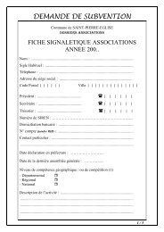 demande de subvention associations - Communauté de Communes ...