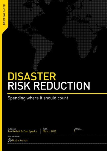 DISASTER RISK REDUCTION - Global Humanitarian Assistance