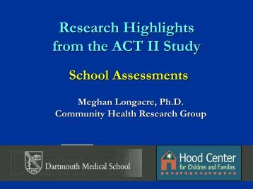 School Assessments by Meghan Longacre_PhD - The Hood Center ...