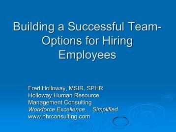 hiringslides - Holloway Human Resource Consulting