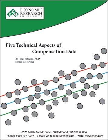 Five Technical Aspects of Compensation Data - ERI Economic ...