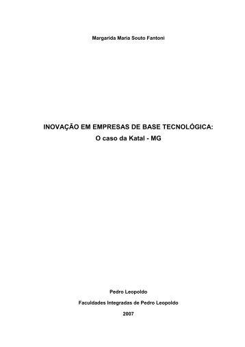INOVAÇÃO EM EMPRESAS DE BASE TECNOLÓGICA - Fundação ...