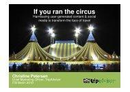 If you ran the circus - ITB Berlin