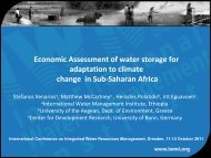 Economic Assessment of water storage for adaptation to climate ...