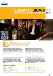 The Museum of Innocence: Cities and Their Authors - CAMOC