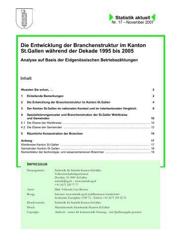 468 kB, PDF - Öffentliche Statistik Kanton St.Gallen