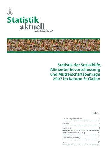 866 kB, PDF - Öffentliche Statistik Kanton St.Gallen