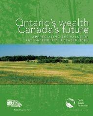 Ontario's wealth Canada's future - David Suzuki Foundation