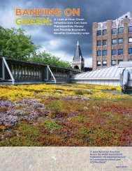 BANKING ON GREEN: - American Society of Landscape Architects