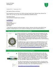 Infobrief Nr. 2, Juni 2013 - Öffentliche Statistik Kanton St.Gallen