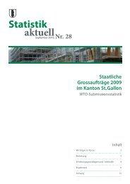 828 kB, PDF - Öffentliche Statistik Kanton St.Gallen