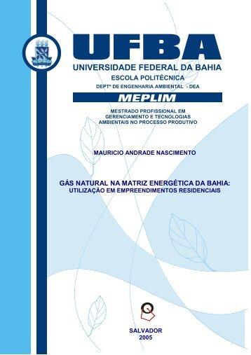 Gás natural na matriz energética da Bahia - TECLIM - Universidade ...