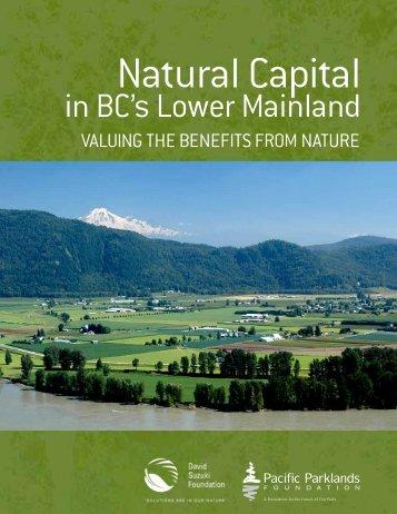 Natural Capital in BC's Lower Mainland - David Suzuki Foundation