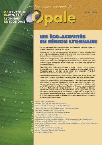 Les éco-activités en région lyonnaise - Opale
