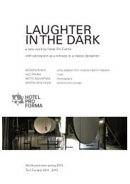 LAUGHTER IN THE DARK - Hotel Pro Forma