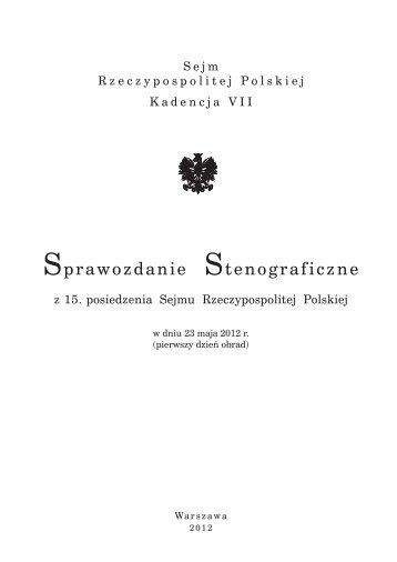 tutaj - Sejm Rzeczypospolitej Polskiej