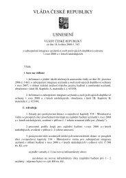 usnesení vlády ČR č. 543 ze dne 14.5.2008 o ... - Praha.eu