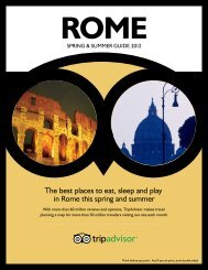 The best places to eat, sleep and play in Rome this ... - Tripadvisor