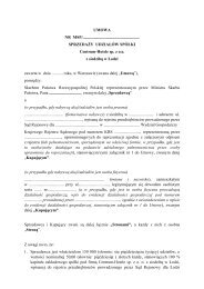 umowa - Ministerstwo Skarbu Państwa