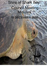 Minutes 15-12-10 - Shire of Shark Bay