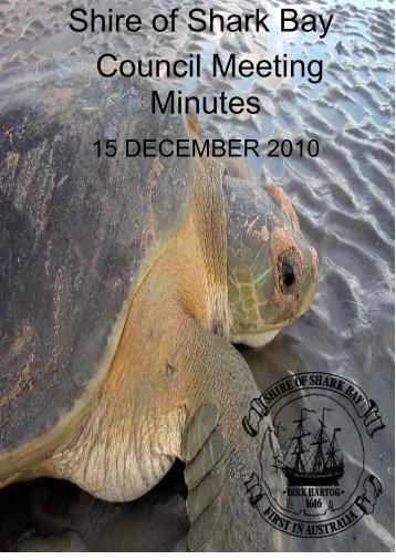 Minutes 15-12-10 - Shire of Shark Bay