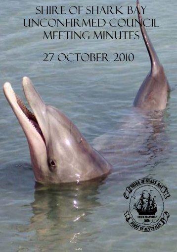 Minutes 27-10-10 - Shire of Shark Bay