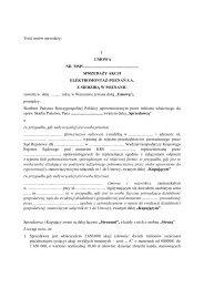 umowa sprzedaży akcji elektromontaż-poznań s.a. z siedzibą w ...