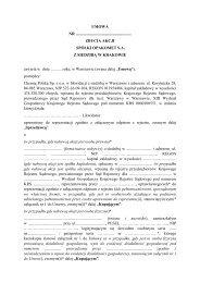 OPAKOMET S.A. z siedzibą w Krakowie - umowa pomiędzy Chemią ...