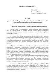 VLÁDA ČESKÉ REPUBLIKY Příloha č. 2 k usnesení vlády ze dne 13 ...
