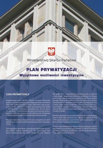 Folder informacyjny (wersja polska) - Ministerstwo Skarbu Państwa