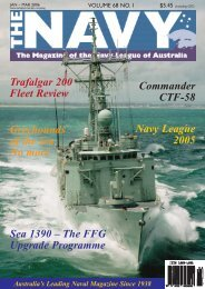 The Navy Vol_68_No_1 Jan 2006 - Navy League of Australia