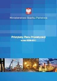 """Broszura informacyjna """"Priorytety Planu Prywatyzacji na lata 2009 ..."""