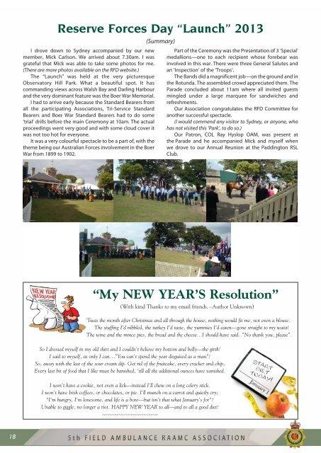 CHRISTMAS Newsletter - RAAMC Association