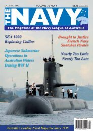 The Navy Vol_70_No_4 Oct 2008 - Navy League of Australia