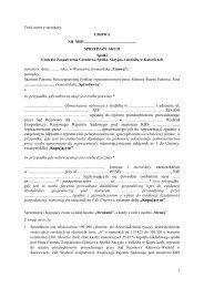 umowa - Centrala Zaopatrzenia Górnictwa S. A. - Ministerstwo ...