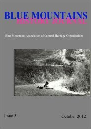 Blue Mountains History Journal Issue 3