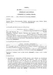 umowa - NITROERG S.A. z siedzibą w Bieruniu - Ministerstwo ...
