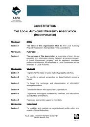 LAPA Rules