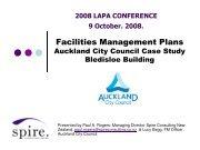 Facilities Management Plans - LAPA