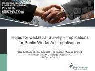 Implications for Public Works Act Legalisation - LAPA
